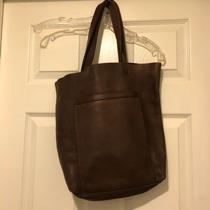 Lucky Brand Brown Leather Tote Purse